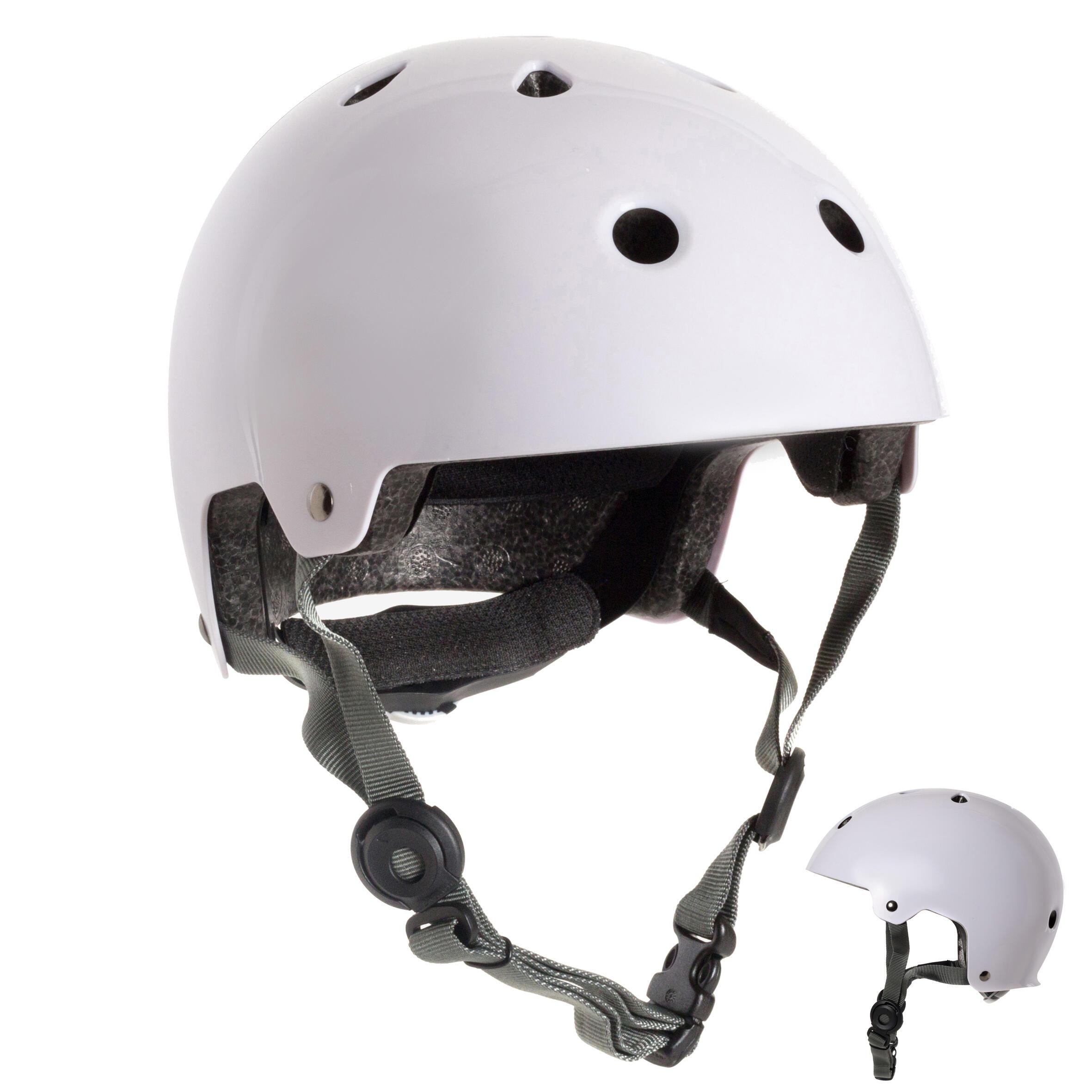 Casco para patines, patineta, patín del diablo y bicicleta PLAY 5 blanco