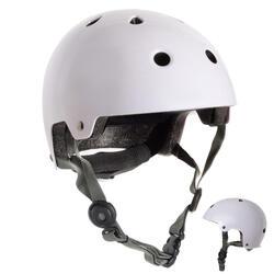 Helm voor skeeleren, skateboarden, steppen Play 5 wit