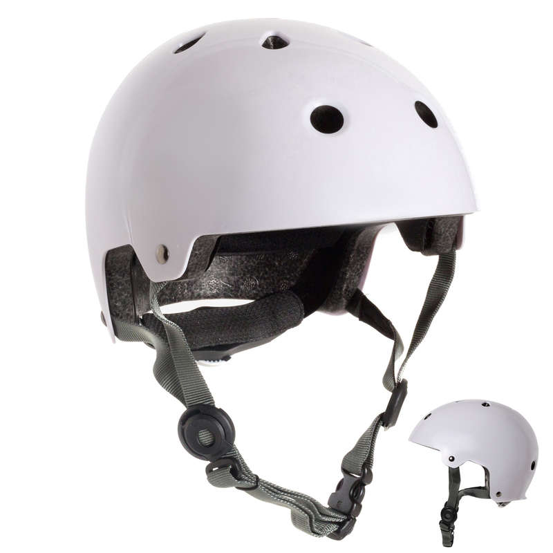 HELMET INLINE SKATE/SKATE/SCOOTER Skateboarding and Longboarding - Helmet Play 5 - White OXELO - Skateboarding and Longboarding