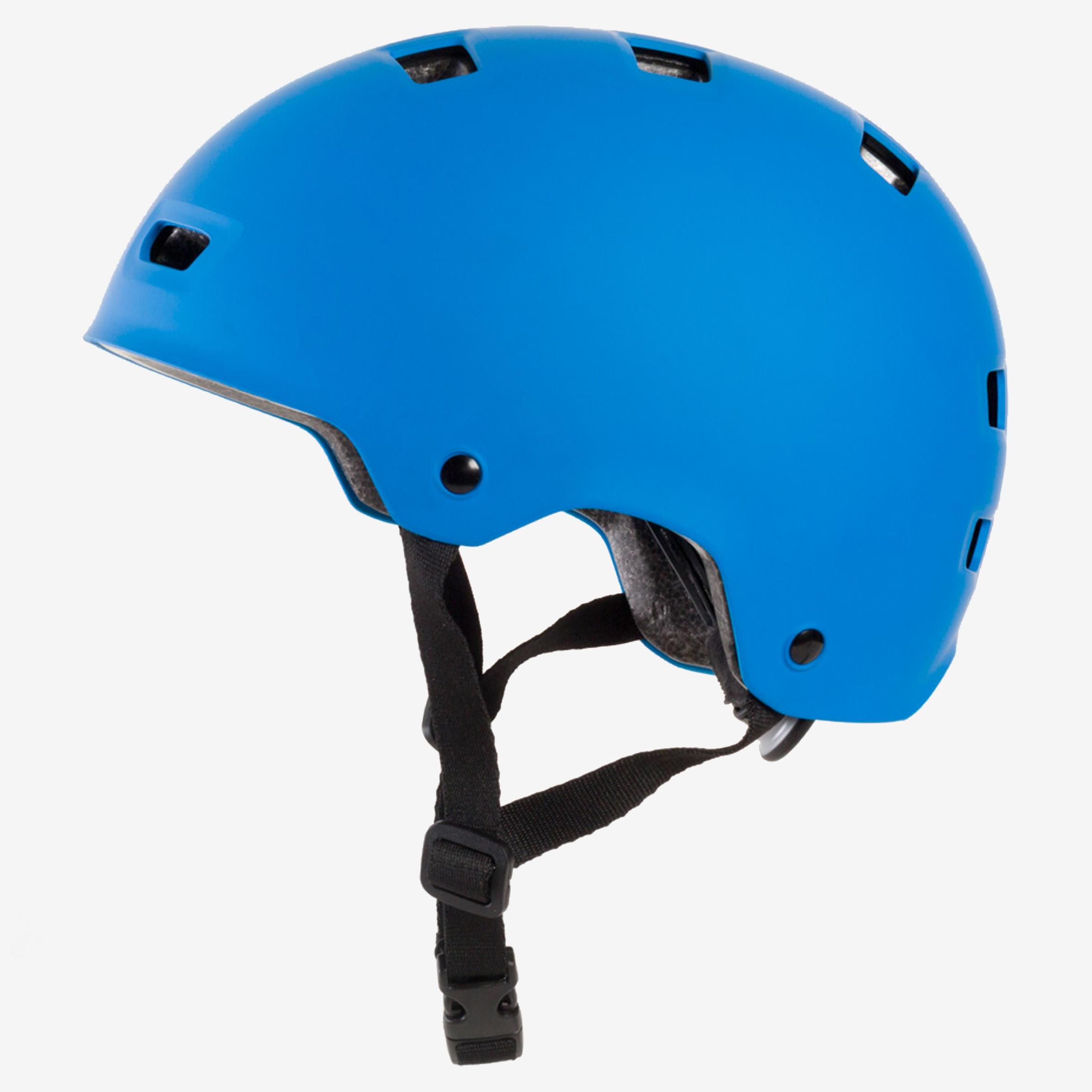 Casque MF500 patin à roulettes planche à roulettes trottinette vélo bleu