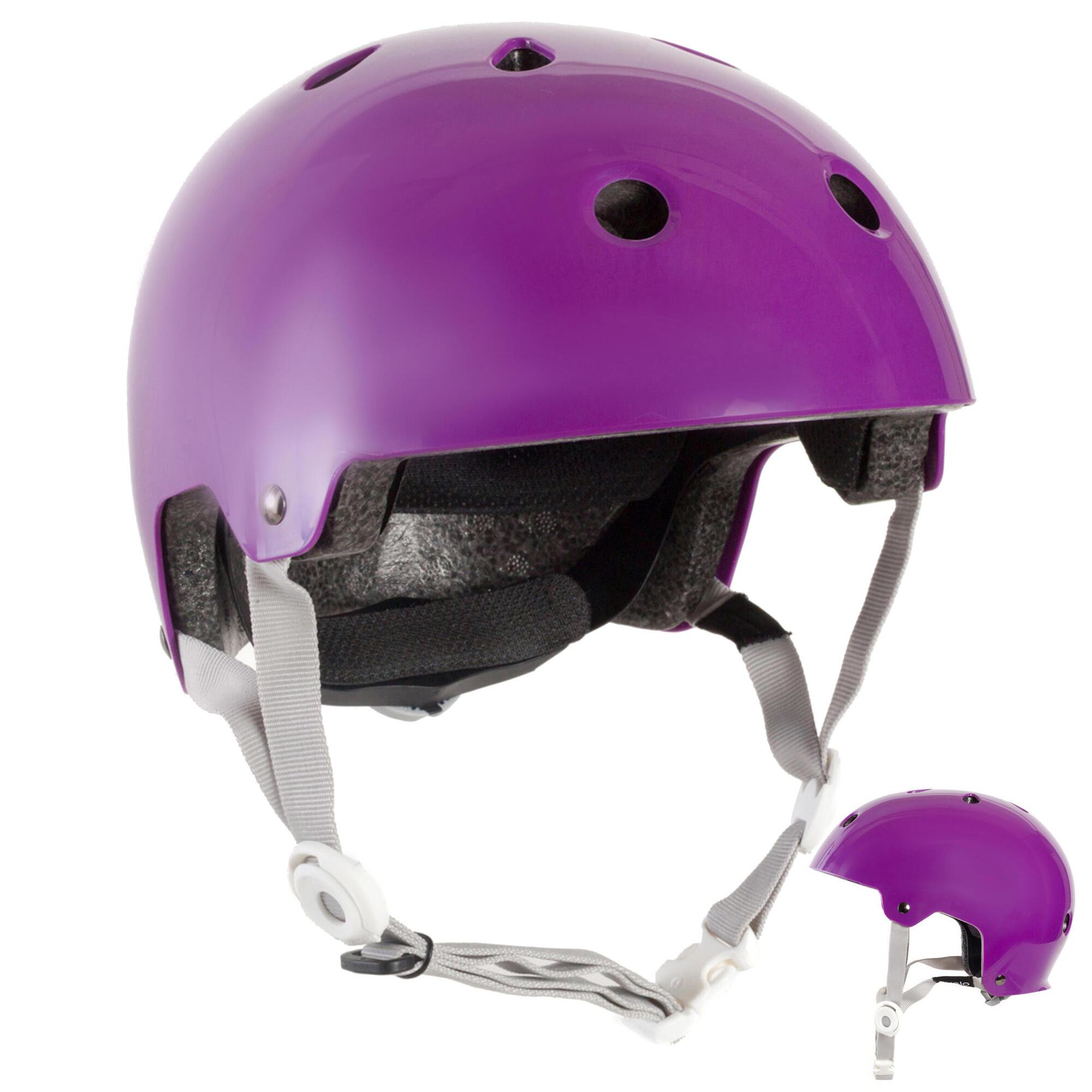 casque roller skateboard trottinette play 5 violet oxelo. Black Bedroom Furniture Sets. Home Design Ideas
