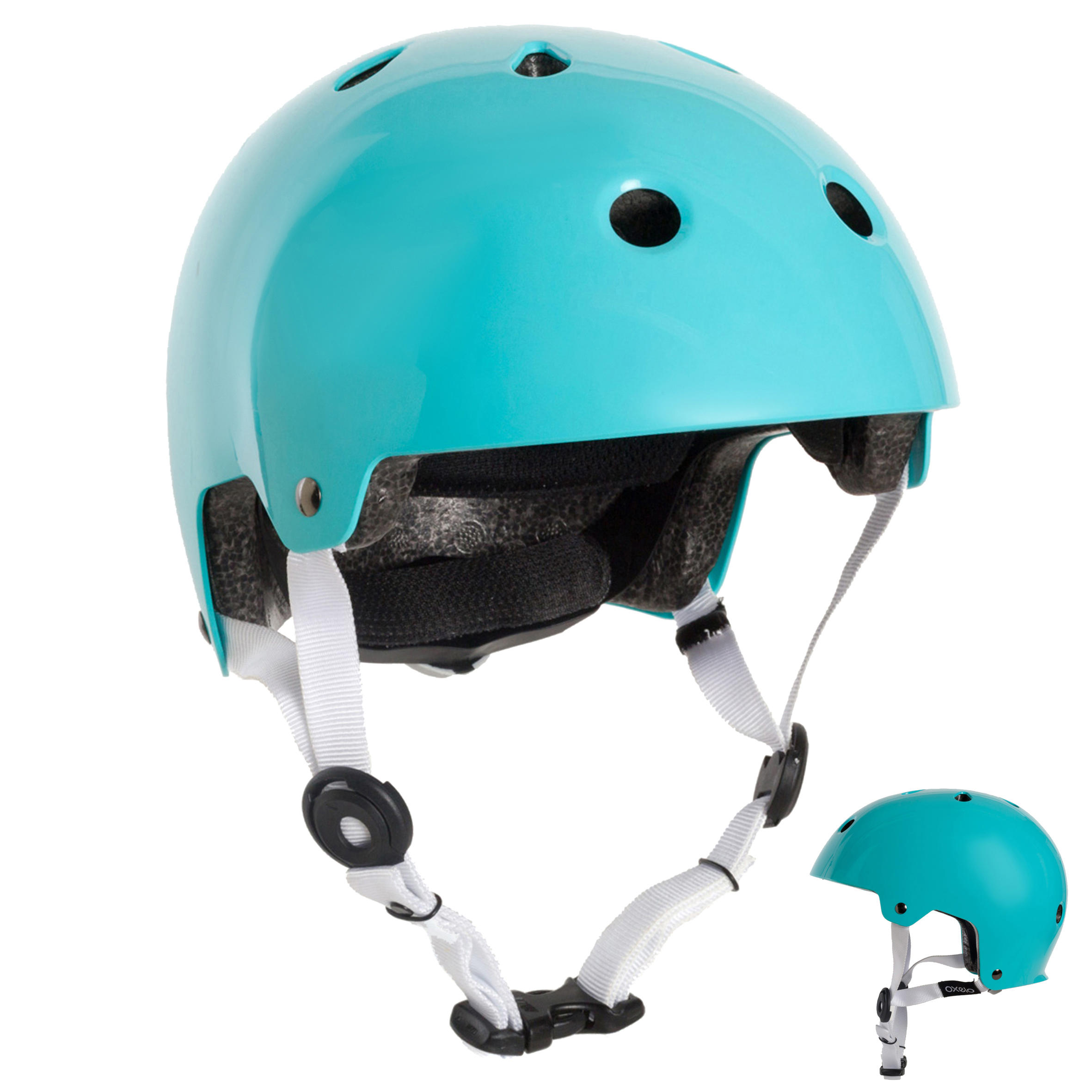 Casque patins roulettes, planche roulettes, trottinette, vélo PLAY 5 turquoise