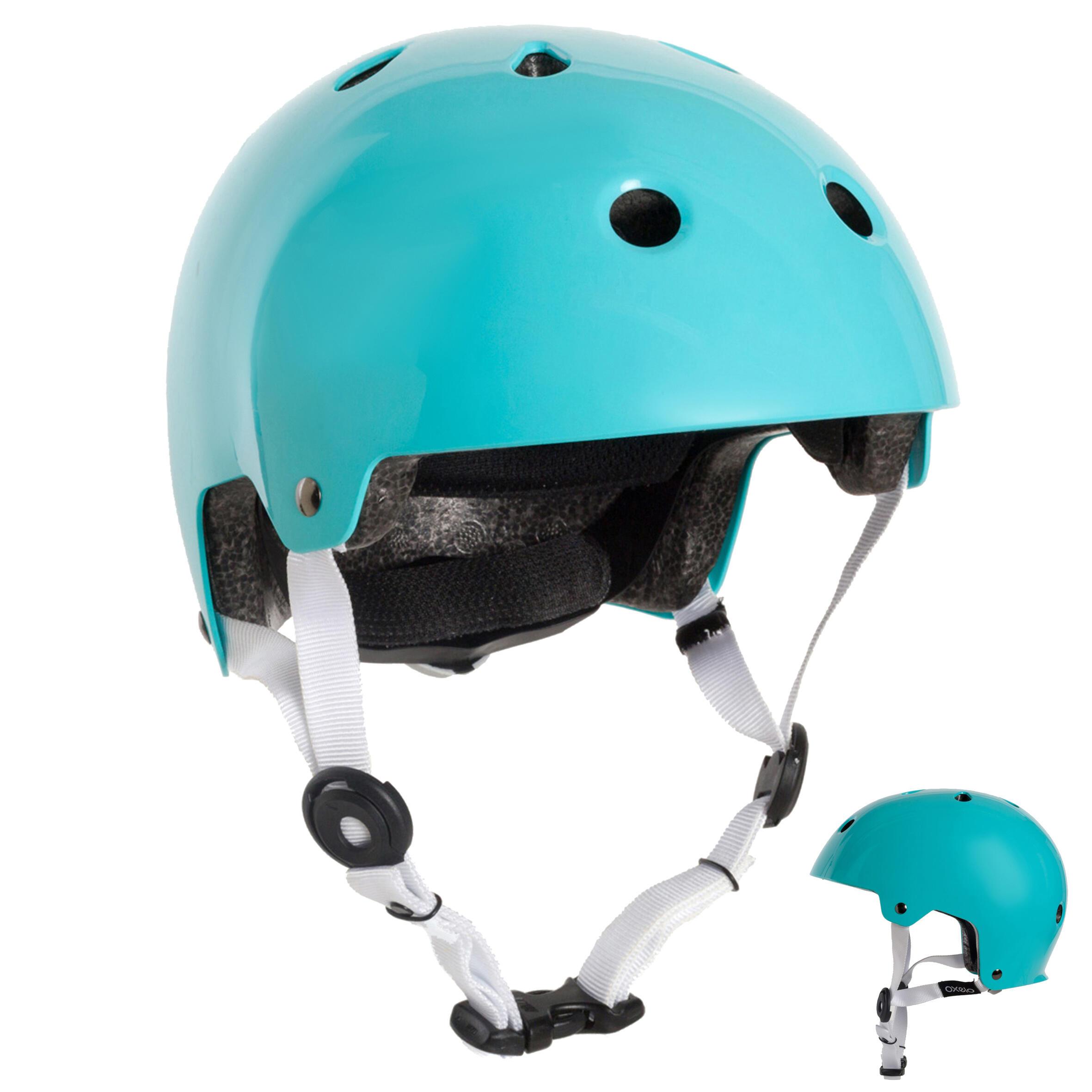 Oxelo Helm voor skeeleren, skateboarden, steppen Play 5 turquoise