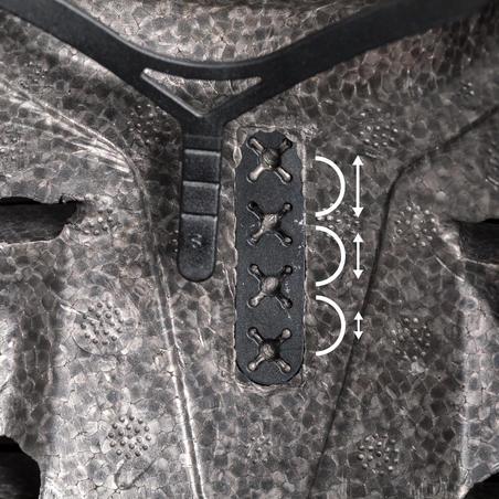 Casco para andar en patines, patineta, patín del diablo MF500 negro azul