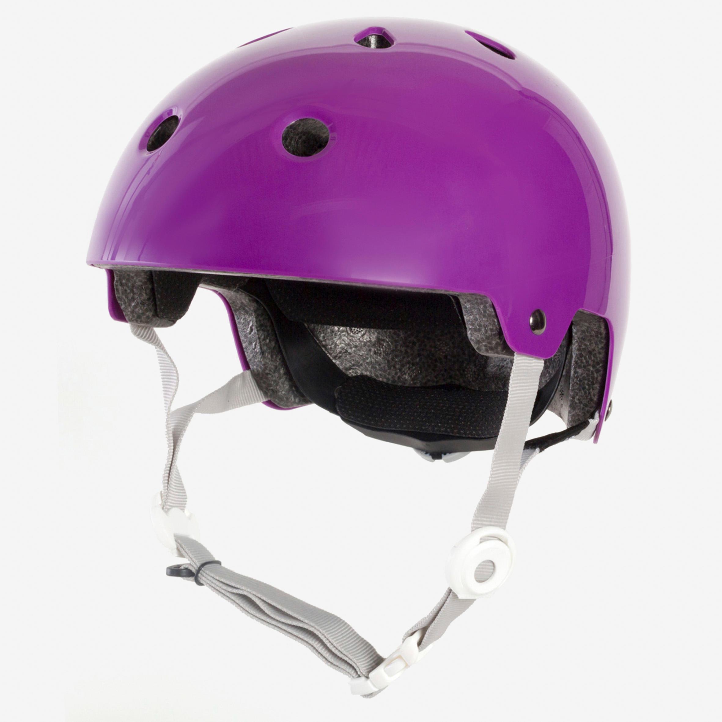 Casque patins à roulettes, planche à roulettes, trottinette, vélo PLAY 5 violet