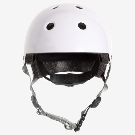 Шлем для катания на роликах, скейтборде или самокате белый PLAY 5