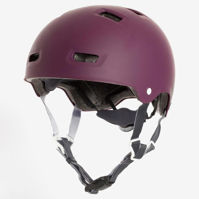 Helm MF 540 voor skeeleren, skateboarden, steppen paars grijs