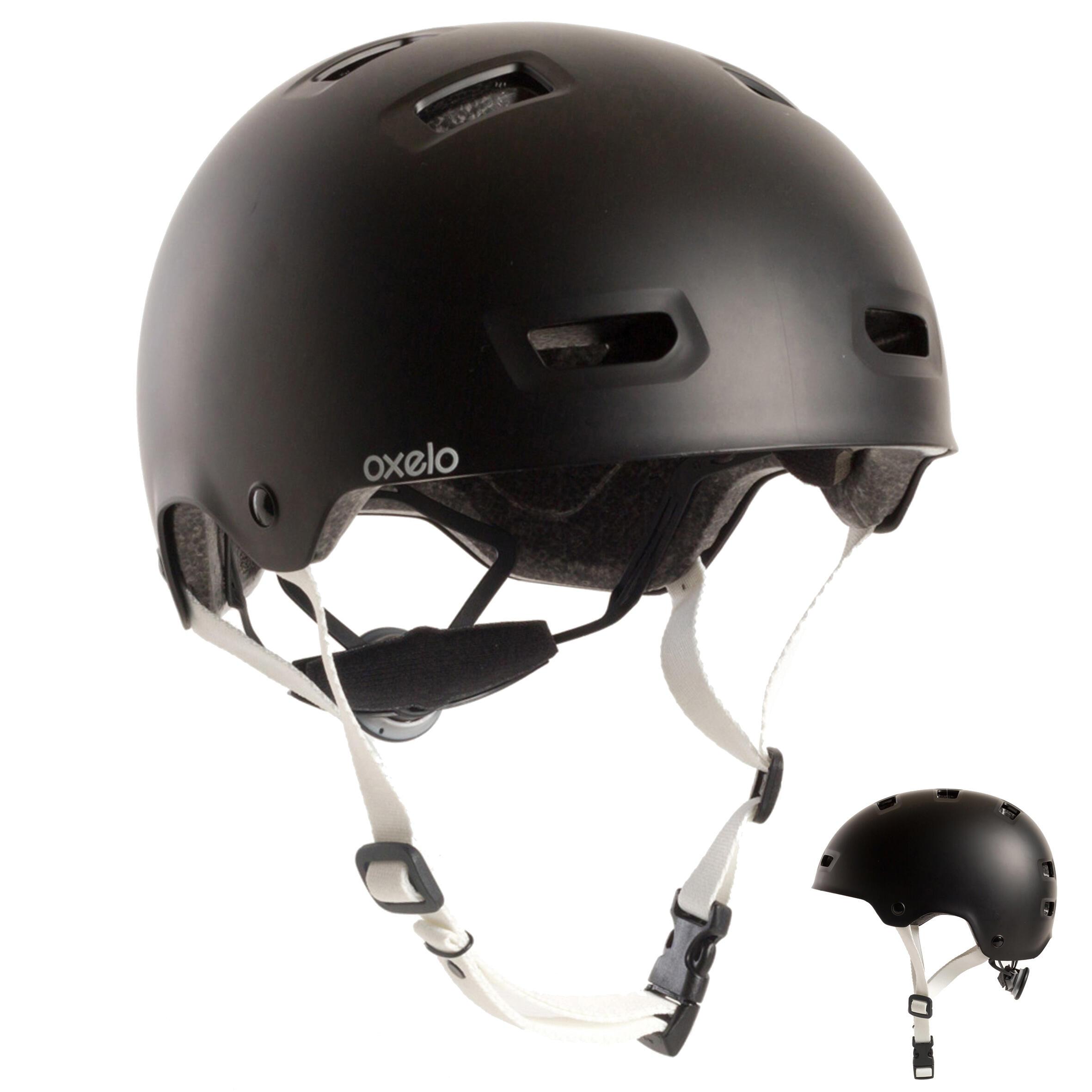 Casque patin à roulettes planche à roulettes trottinette MF500 noir