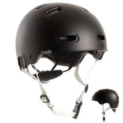 Helm voor skeeleren, skateboarden, steppen MF500 zwart
