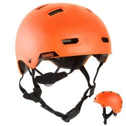 Casco para roller skateboard patinete MF540 naranja fluo