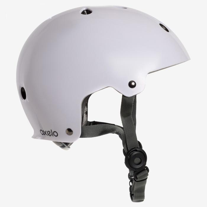 Casco Patinaje Patiente Skateboard Oxelo Play 5 Niños|Adultos Blanco