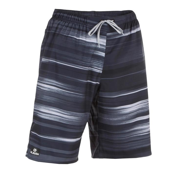 Boardshorts lang Surfen 100 Cloud schwarz