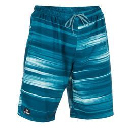 Bañador Surf Boardshort largo Olaian 100 cloud hombre azul