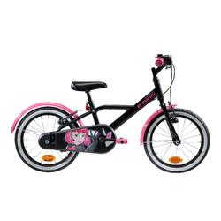 Kinderfahrrad 16 Zoll 500 Spy Hero Girl schwarz/pink