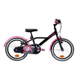 "Kinderfahrrad 16"" Spy Hero Girl 500 schwarz/pink"