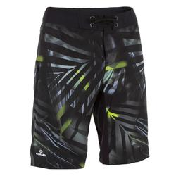 Surf boardshort long 500 Jungle Grey