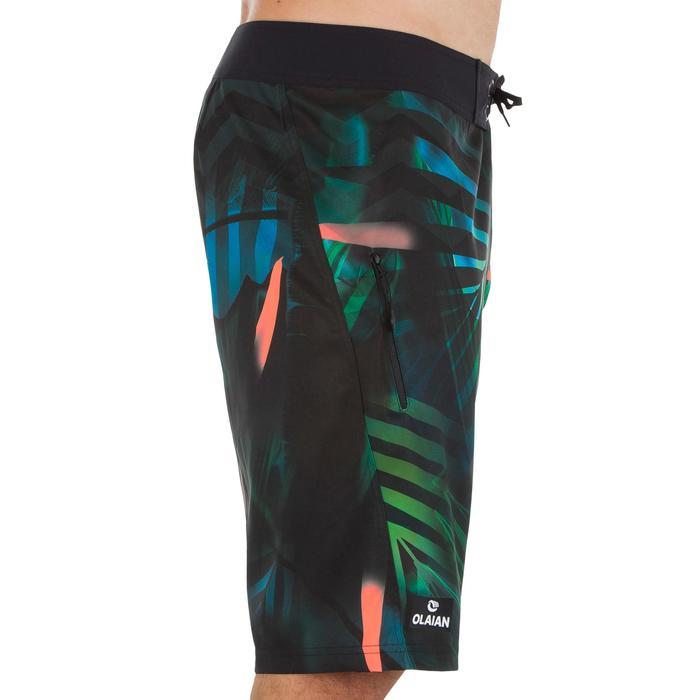500 長版衝浪短褲 叢林風 綠色