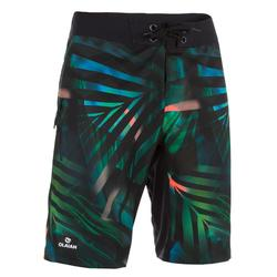 Lange Boardshorts Surfen 500 Jungle grün