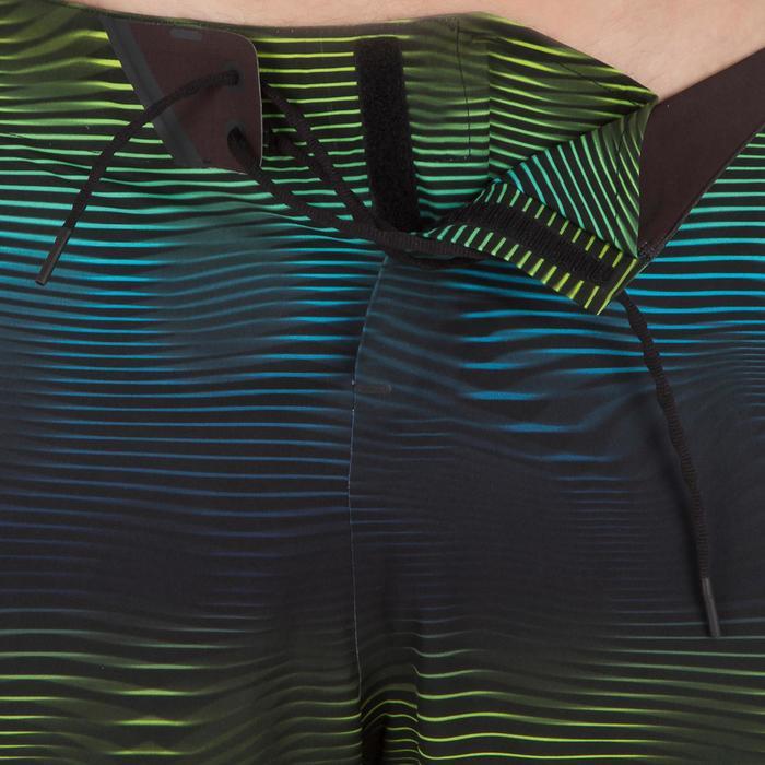 """Bañador Largo Surf Olaian 900 Symbio Hombre Azul Marino Verde 20"""""""