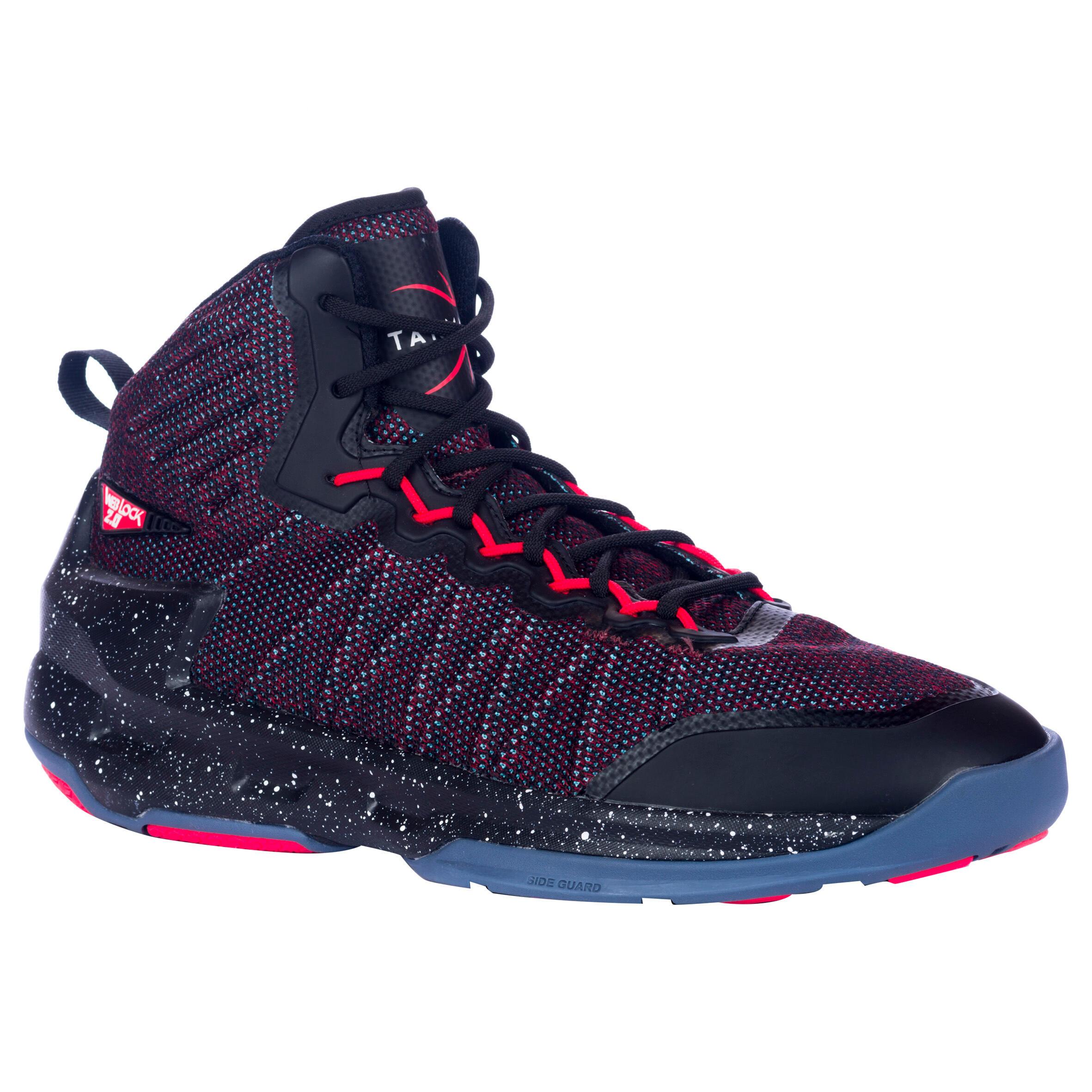 Chaussure de basketball homme shield 500 rouge noire tarmak