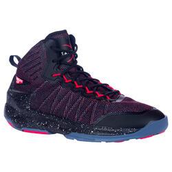 Zapatillas baloncesto adulto perfeccionamiento Hombre/Mujer Shield 500 rojo negr