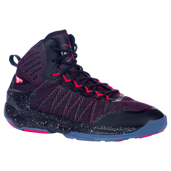 new concept 3c7aa 3b937 Zapatillas baloncesto adulto perfeccionamiento Hombre Mujer Shield 500 rojo  negr