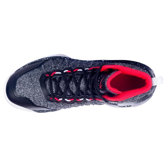 best sneakers 72db1 d1f27 Zapatillas baloncesto adulto perfeccionamiento Hombre Mujer Shield500 negro  rojo