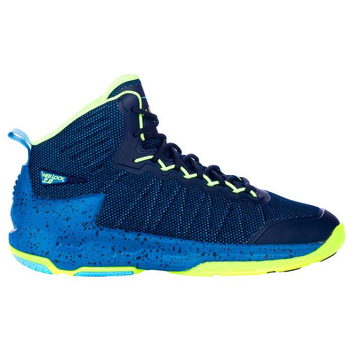 Chaussure de Basketball adulte confirmé Homme/Femme Shield 500 bleu jaune