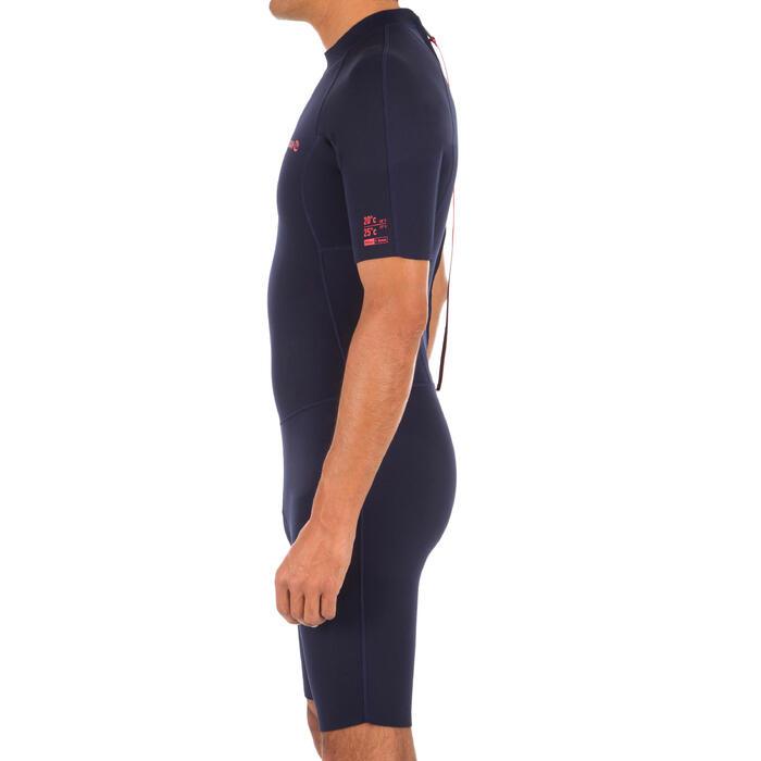 Combinaison Surf Shorty 100 Néoprène 1,5mm homme bleu marine - 1297845