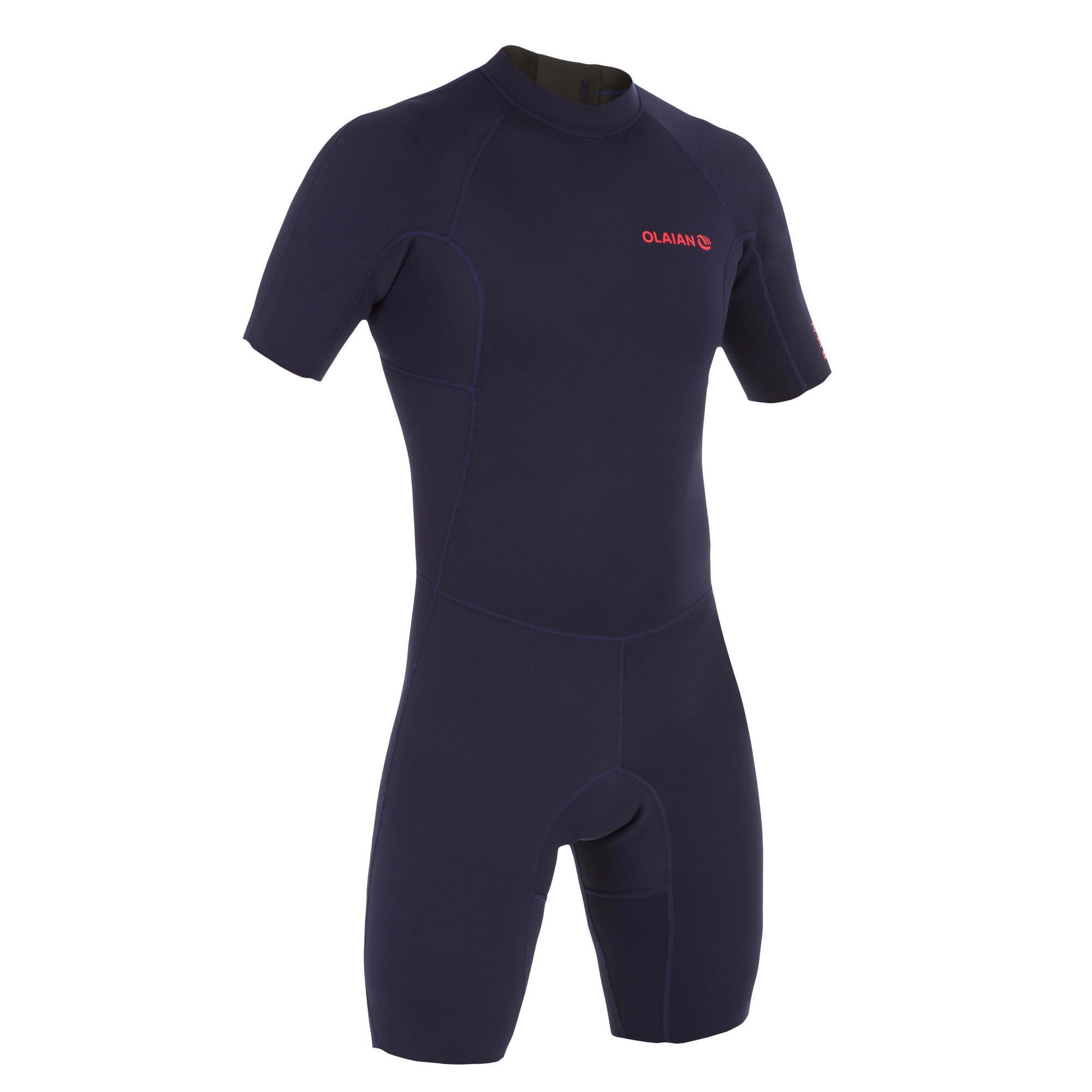 Neoprenanzug Surfen Shorty 100 Neopren 1|5mm Herren marineblau | Sportbekleidung > Sportanzüge > Sonstige Sportanzüge | Olaian