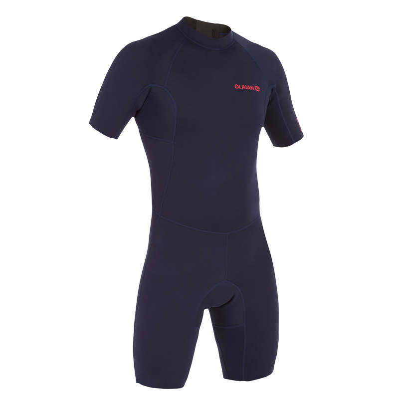 WARM WATER SPRINGSUIT Surf - SRTY100 M navy blue shorty OLAIAN - Wetsuits