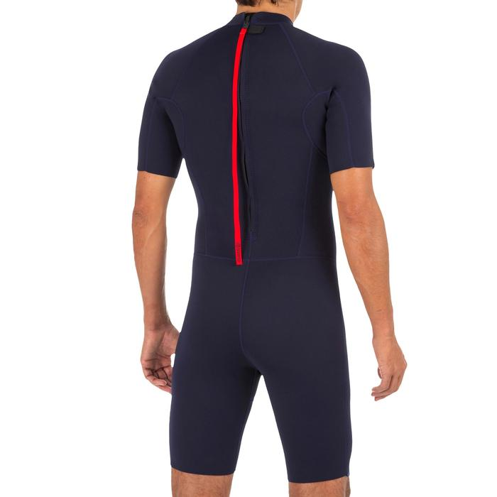 Shorty wetsuit heren 1,5 mm 100 marineblauw