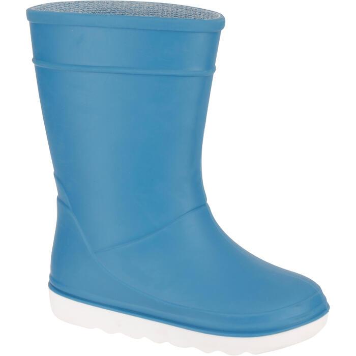 Bottes de pluie Sailing 100 enfant bleu clair