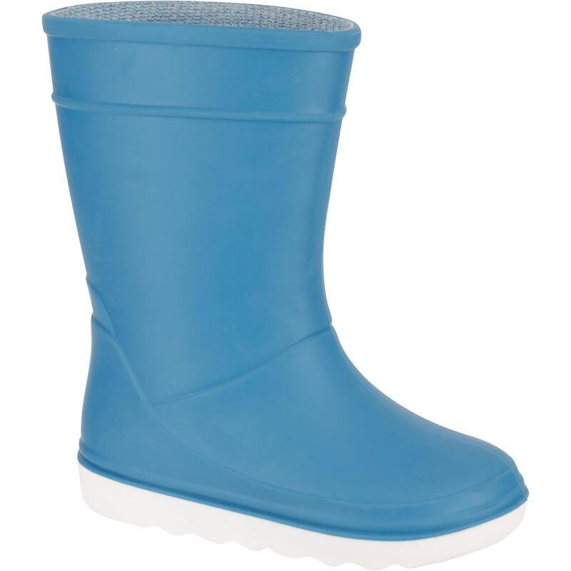 Regenlaarzen voor kinderen Sailing 100 lichtblauw