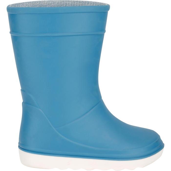 Botas náuticas B100 niños azul claro