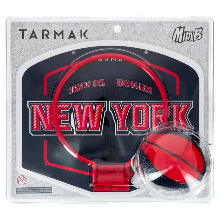 Mini panneau de basket enfant/adulte Set Mini B New York bleu. Ballon inclus. - 1297947