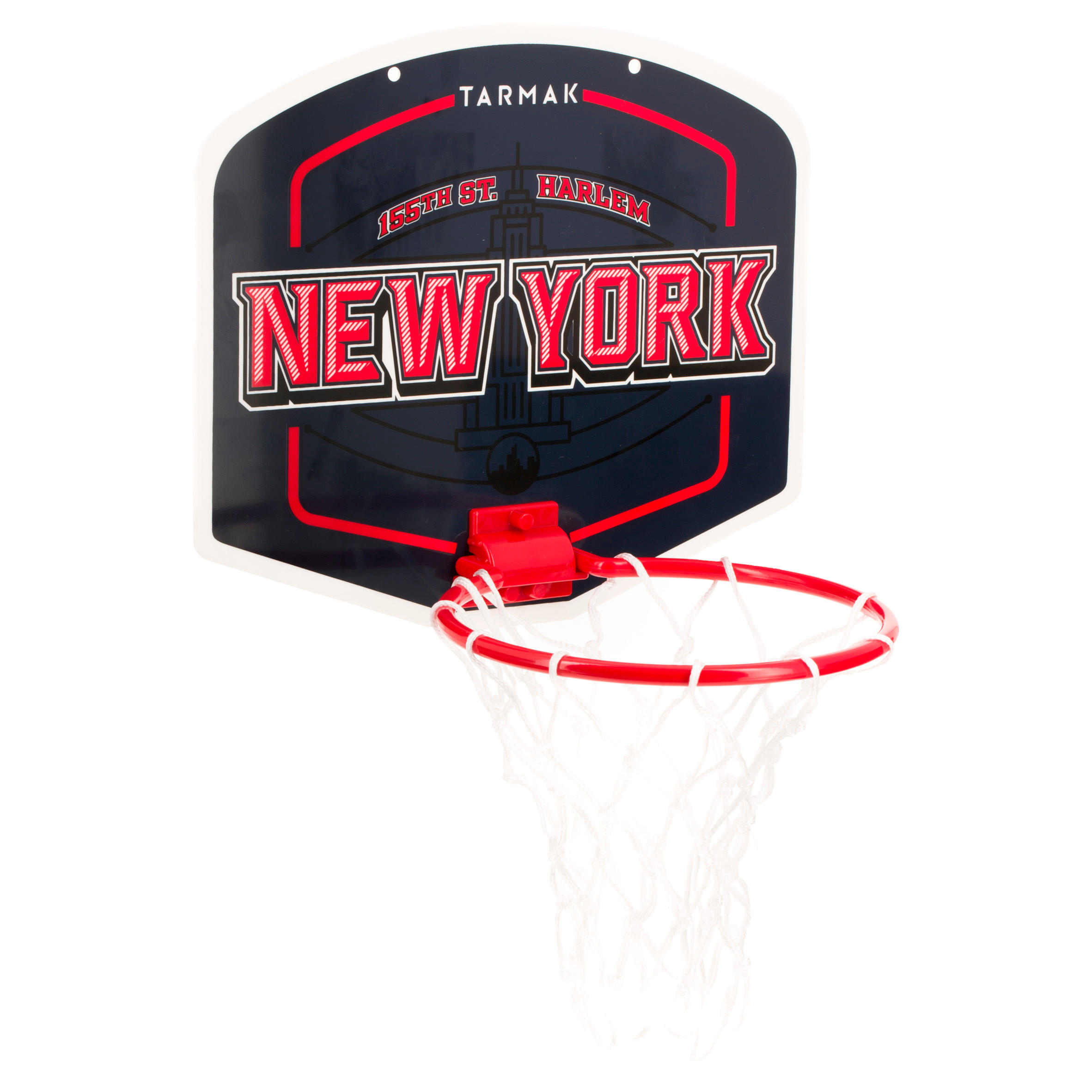 Tarmak Mini basketbalbord kinderen/volwassenen Set Mini B New York blauw. Incl. bal.