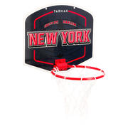 Minicanasta de básquetbol niños/adultos Set Mini B New York azul. Inclu. balón