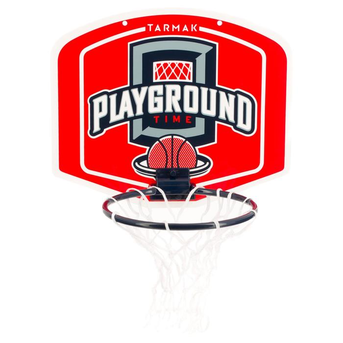 Mini basketbalbord volwassenen Set Mini B Playground rood. Incl. bal.