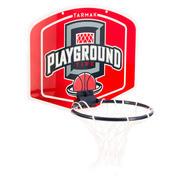 Koš. komplet MINI B Playground za otroke in odrasle - rdeč Žoga priložena.
