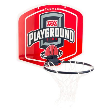 Mini B Playground Set Basketball Backboard Red Ball Included - Kids/Adults.