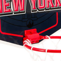 Mini panneau de basket enfant/adulte Set Mini B New York bleu. Ballon inclus.