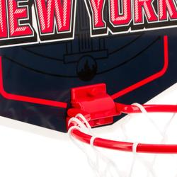 Mini basketbalbord kinderen/volwassenen Set Mini B New York blauw. Incl. bal.