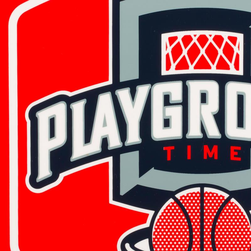 Mini B Playground Set Kids'/Adults' Basketball Backboard - Red Ball included.