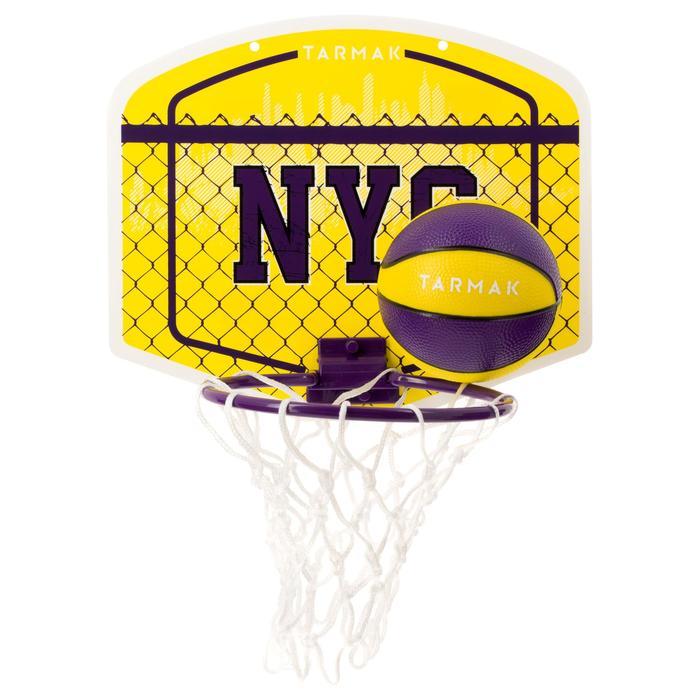Mini B Kids'/Adults' Mini Basketball Hoop - Yellow NYCBall included.