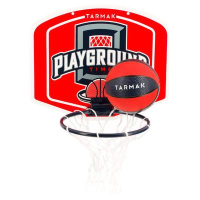ערכת מגרש משחקים Mini B לוח כדורסל לילדים / למבוגרים - כדור אדום כלול.