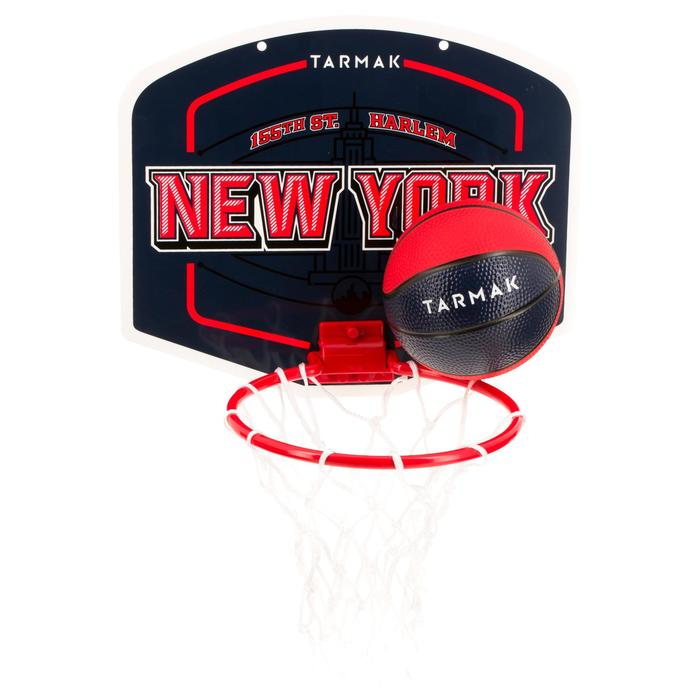 Mini panneau de basket enfant/adulte Set Mini B New York bleu. Ballon inclus. - 1297978