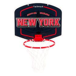 Minicanasta de baloncesto niños/adultos Set Mini B New York azulBalón incluido.