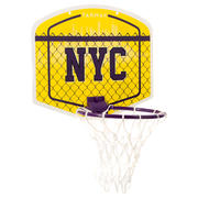 Mini B Kids'/Adults' Mini Basketball Hoop - Yellow NYCBall included.