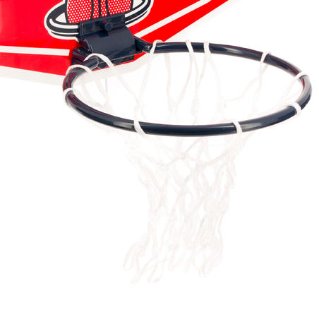 Mini panneau de basket enfant/adulte ens Mini B Playground rouge. Ballon inclus.
